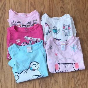 Five Gymboree long sleeve shirts